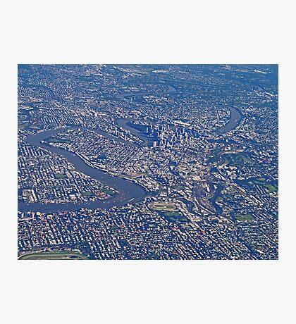 Aerial, Brisbane , Queensland, Australia Photographic Print