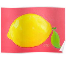 Lemon Painting Poster