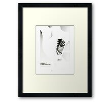 Scalpel, nude female back anatomy muscle design Framed Print