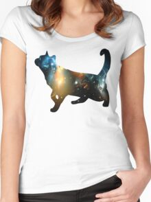 CELESTIAL CAT Women's Fitted Scoop T-Shirt