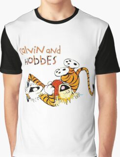 Calvin and hobbes laugh moment Graphic T-Shirt
