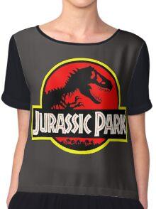 Vintage Style Jurassic Chiffon Top