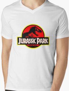 Vintage Style Jurassic Mens V-Neck T-Shirt