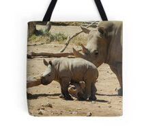 Mum and baby rhino Tote Bag