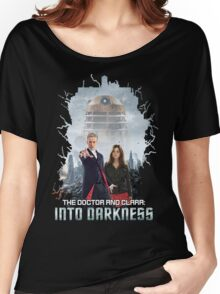 The Doctor and Clara: Into Darkness Women's Relaxed Fit T-Shirt