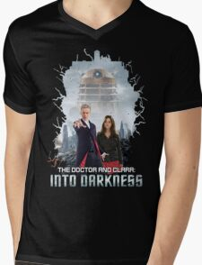 The Doctor and Clara: Into Darkness Mens V-Neck T-Shirt