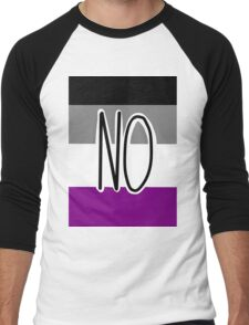 Ace Flag -- NO Men's Baseball ¾ T-Shirt