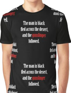 The man in black and the Gunslinger Graphic T-Shirt
