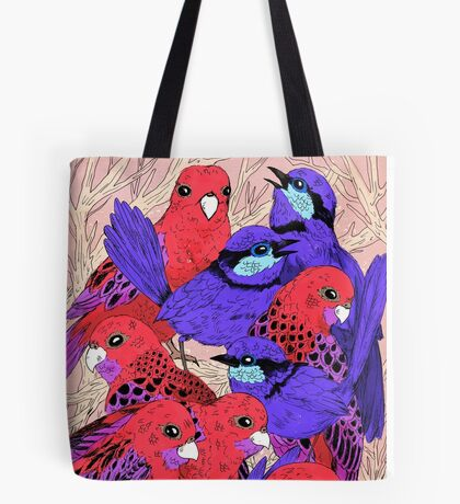 Wrens and Rosellas Delight! Tote Bag