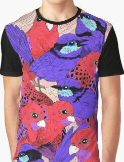 Wrens and Rosellas Delight! Graphic T-Shirt