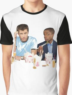 Shawn & Gus + Chinese Food Graphic T-Shirt