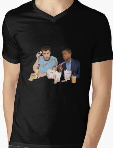 Shawn & Gus + Chinese Food Mens V-Neck T-Shirt