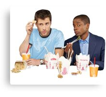 Shawn & Gus + Chinese Food Canvas Print