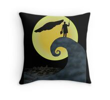 The Doctor's Nightmare Before Christmas Throw Pillow