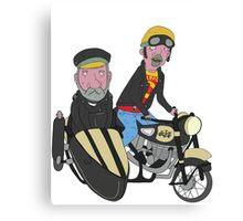 Elderly Bikers Canvas Print