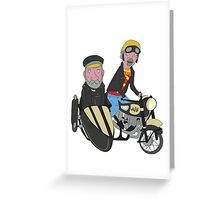 Elderly Bikers Greeting Card