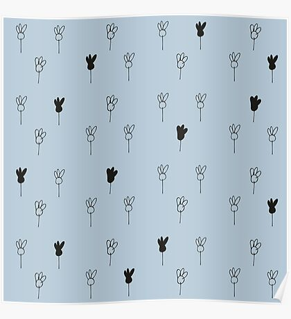 Chamomile black and blue Poster