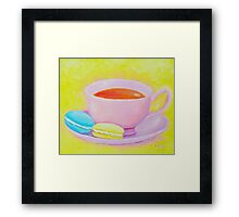 Cup of Tea with Macaroons Framed Print