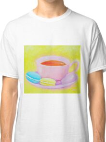Cup of Tea with Macaroons Classic T-Shirt