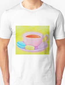 Cup of Tea with Macaroons Unisex T-Shirt
