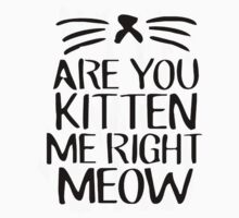 Are You Kitten Me Right Meow One Piece - Short Sleeve
