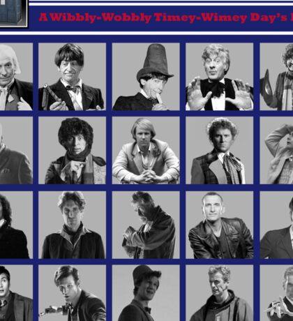A Wibbly-Wobbly Timey-Wimey Day's Night Sticker