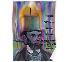 Abraham Lincoln Candle psychedelic stovepipe hat Poster
