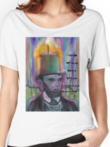 Abraham Lincoln Candle psychedelic stovepipe hat Women's Relaxed Fit T-Shirt
