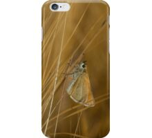 Butterfly on barley iPhone Case/Skin
