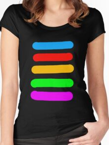 Graffiti Colours Women's Fitted Scoop T-Shirt