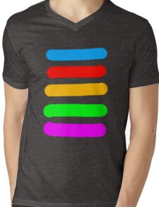 Graffiti Colours Mens V-Neck T-Shirt