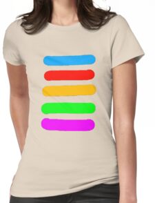 Graffiti Colours Womens Fitted T-Shirt