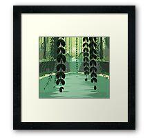 Misty Marsh Framed Print