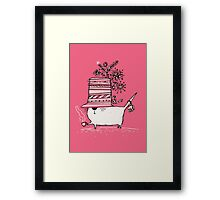 Cup of Tea Cat Framed Print