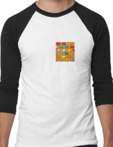 Pop Art Muti-coloured Petri Dishes Men's Baseball ¾ T-Shirt