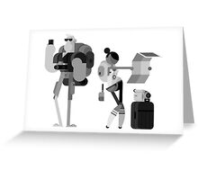 Lost Tourists Greeting Card
