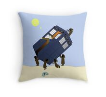The Jawas Have the Phonebox Throw Pillow
