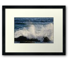 Crushing waves Framed Print