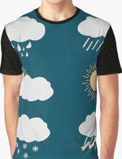 icon set weather contours  Graphic T-Shirt