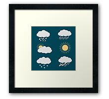 icon set weather contours  Framed Print