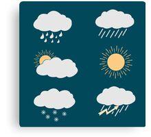 icon set weather contours  Canvas Print