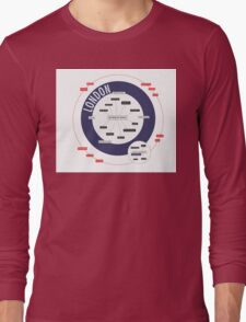 City Infographic / London Long Sleeve T-Shirt