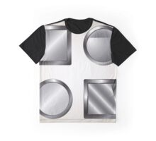Set of blank grey buttons  Graphic T-Shirt