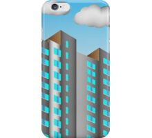 City background is made in perspective  iPhone Case/Skin