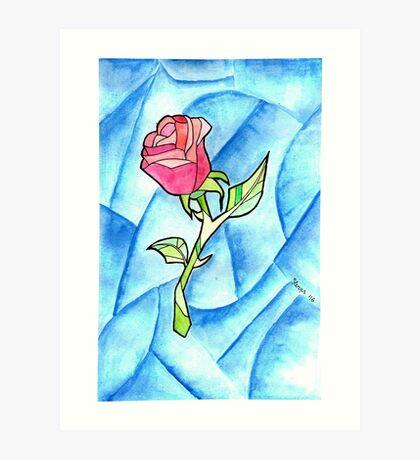 Paper Rose Art Print