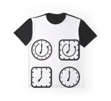 set of icons square and round clock  Graphic T-Shirt