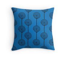 Windmills - Blue Throw Pillow