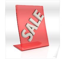 hot sale sign isolated on white background Poster