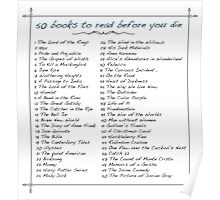 50 books to read before you die Poster