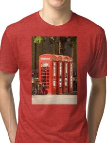 Red Phone Boxes Tri-blend T-Shirt